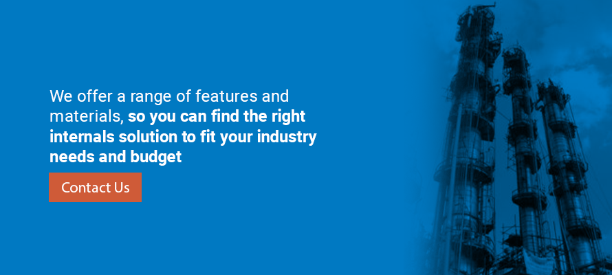 We offer a range of features and materials, so you can find the right internals solution to fit your industry needs and budget.