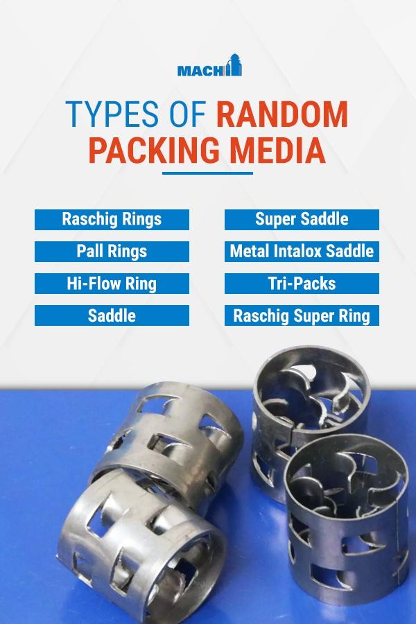 Types of random packing media